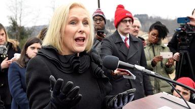 Sen. Kirsten Gillibrand (D-N.Y.) returned home to upstate