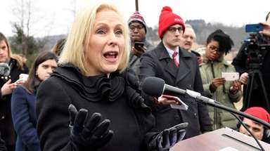 Sen. Kirsten Gillibrand (D-N.Y.) returned home to upstate