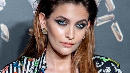 Paris Jackson attends the Versace fall 2019 fashion