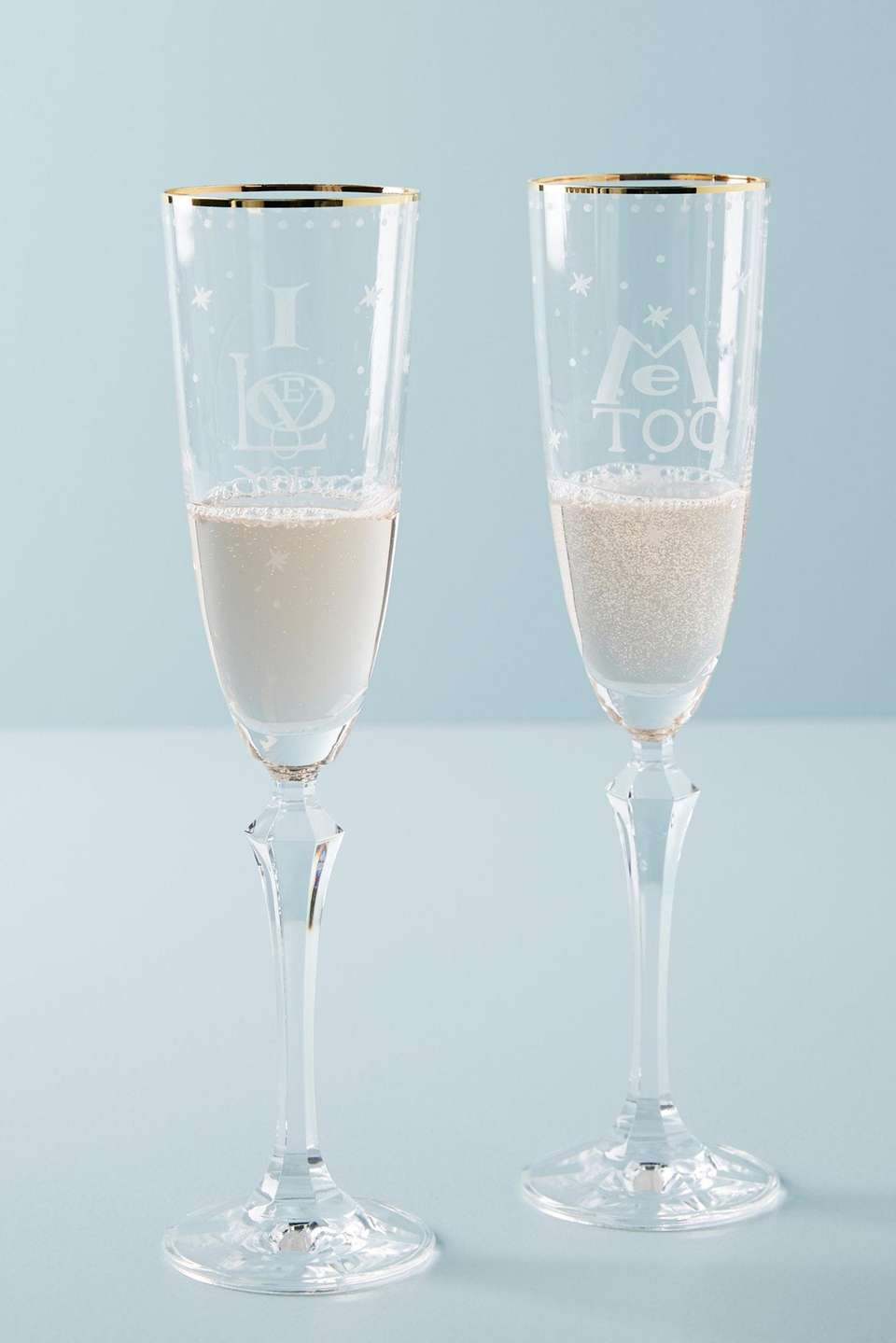 Declare your love with these romantic champagne flutes,