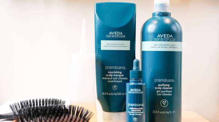 Aveda Pramasana scalp treatment products at Spa Adriana