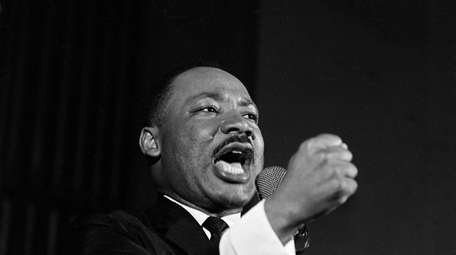 The Rev. Martin Luther King Jr. during a