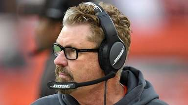 Browns head coach Gregg Williams looks on during