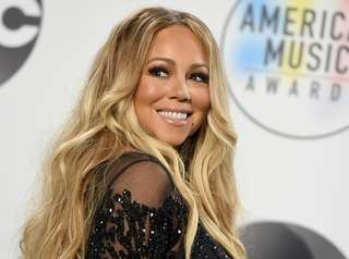Mariah Carey attends the American Music Awards on