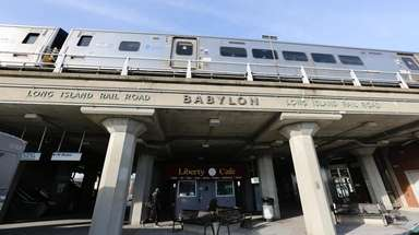 The Babylon LIRR station shown on Jan. 3.