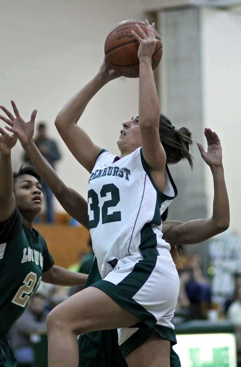 Lindenhurst guard Stephanie Ingenito #32 drives to the
