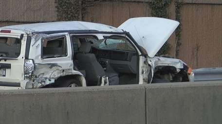 Four people were hurt in a crash Wednesday