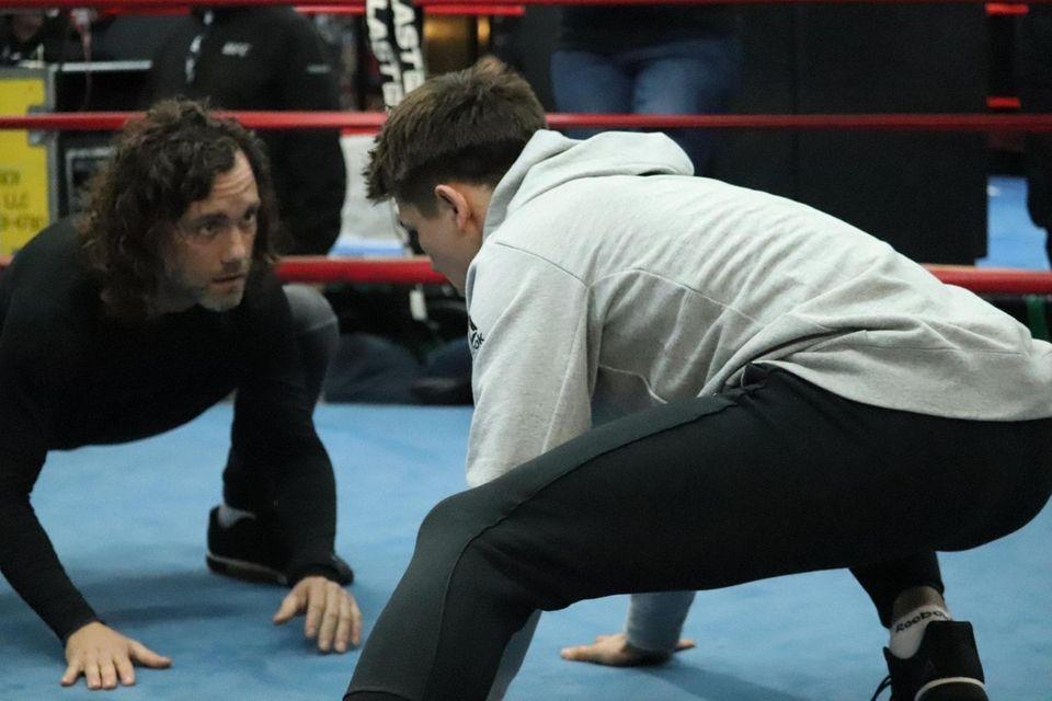 UFC lightweight Alexander Hernandez works out at Gleason?'s