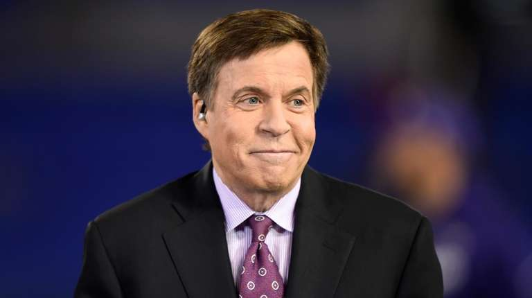 NBC sportscaster Bob Costas appears before an NFL