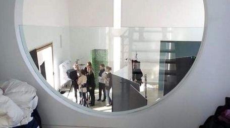Behind the scenes at a fashion shoot at