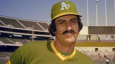 Rollie Fingers of the Oakland A's in 1976.