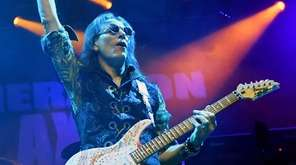 Guitarist Steve Vai performs during the Generation Axe