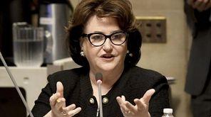 State Education Commissioner MaryEllen Elia speaks to members