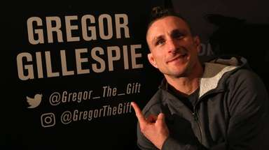 Gregor Gillespie, a lightweight fighter from Massapequa who