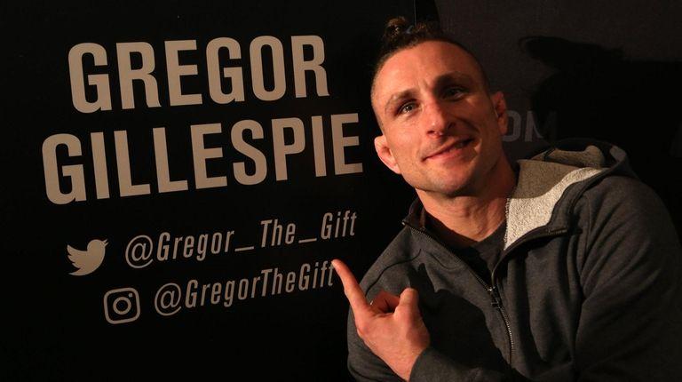 Gregor Gillespie, a lightweight fighter from Massapequa who