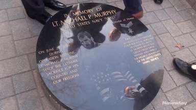 Officials unveiled the new plaque honoring Navy SEAL