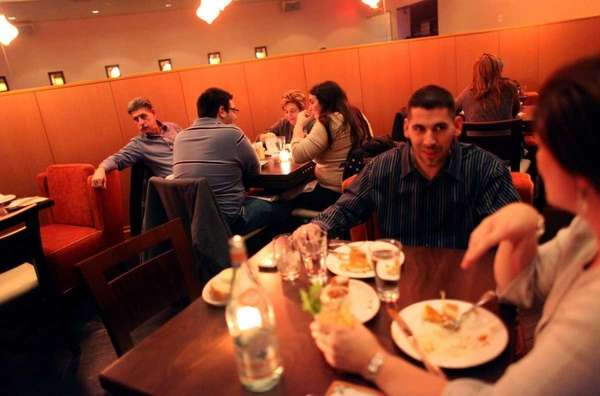 Patrons dine at Vero, an Italian restaurant in