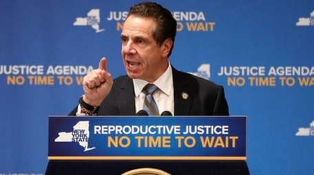 Gov. Andrew M. Cuomo speaks during an appearance