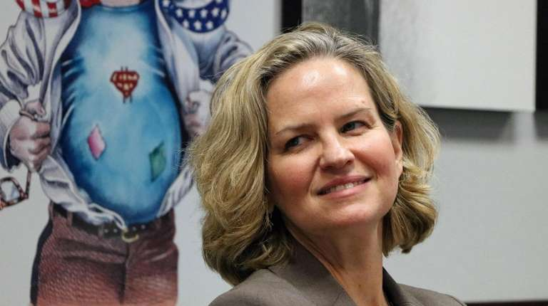 Laura Curran visits the Newsday Editorial Board on