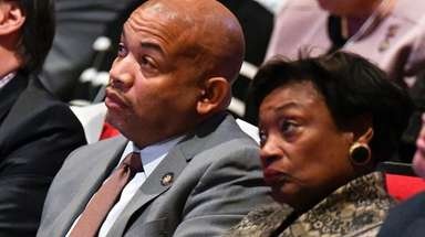 Assembly Speaker Carl Heastie, left, and Senate Majority