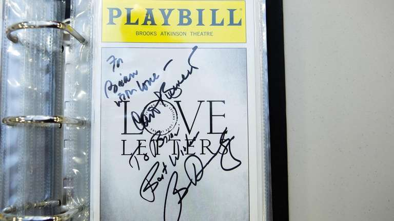 Brian Stoll brings his collection of playbills, signed