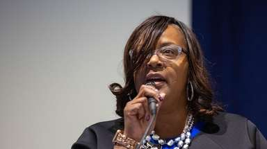 Regina Armstrong, acting superintendent of the Hempstead school