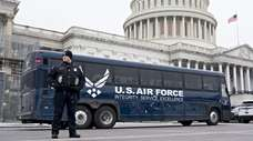 An Air Force bus intended for members of