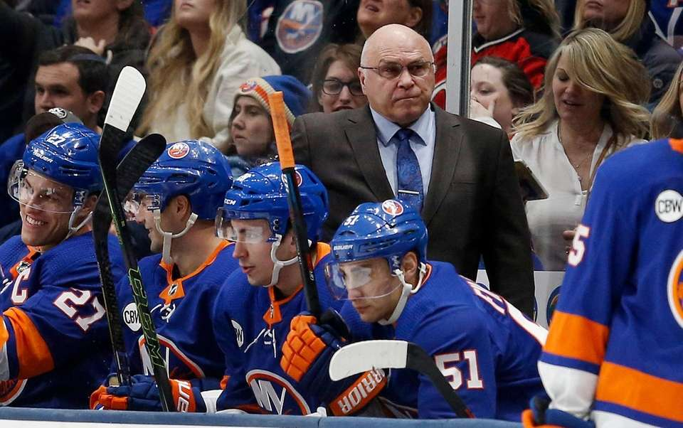 Head coach Barry Trotz of the New York
