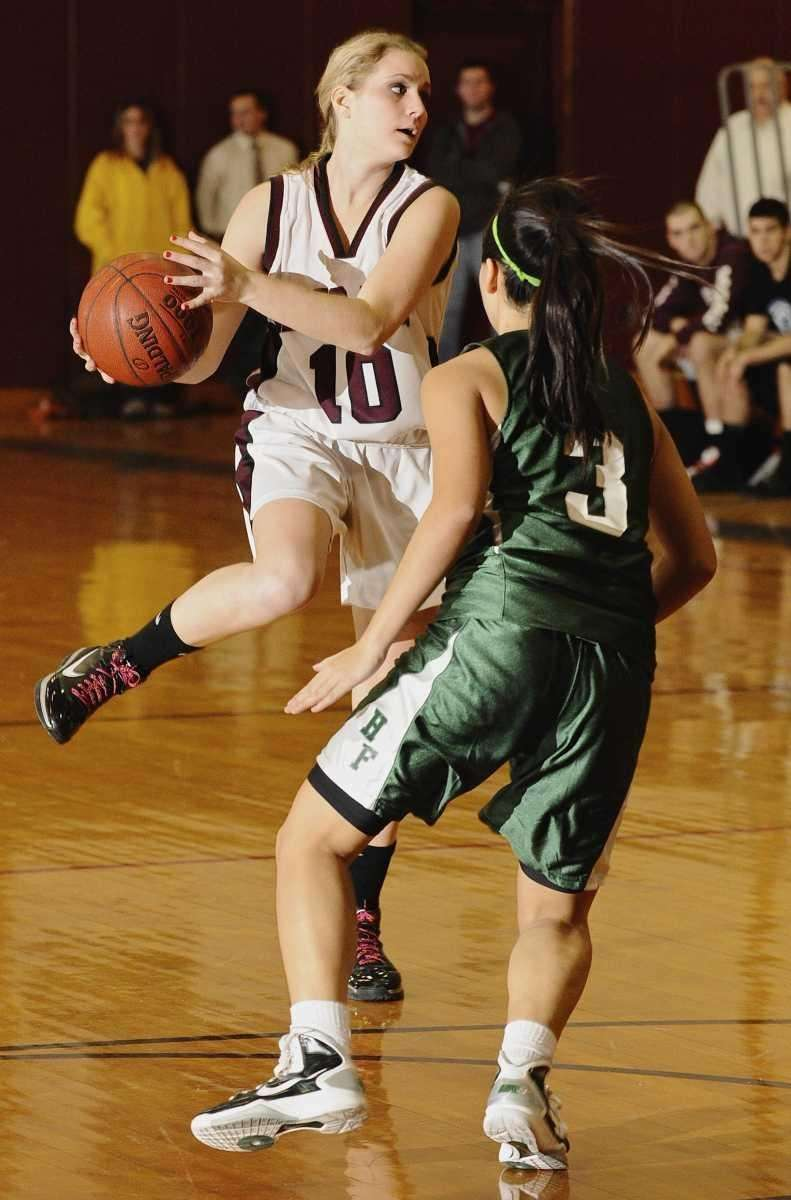 Kings Park's Meghan Eckel looks to shoot past