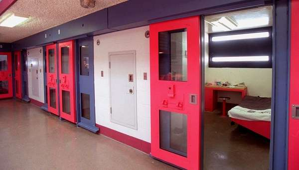 A jail cell is seen inside Nassau County