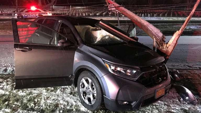 A sport utility vehicle driver in Melville ran