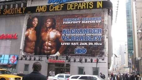 Devon Alexander, Tim Bradley promotional billboard shot. Courtesy