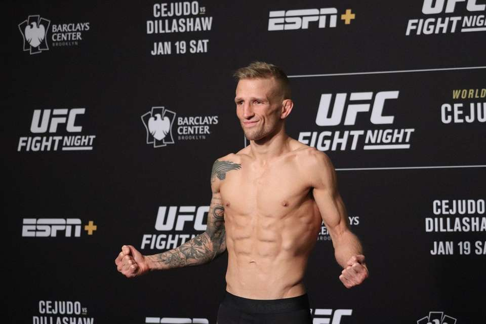 TJ Dillashaw weighs in for his UFC Brooklyn