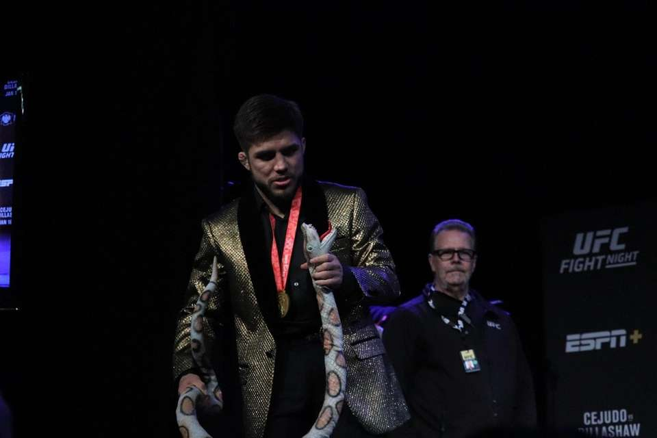 UFC flyweight champion Henry Cejudo appears at a