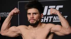 UFC flyweight champion Henry Cejudo weighs in ahead