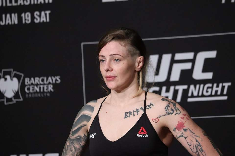 Joanne Calderwood weighs in ahead of UFC Brooklyn