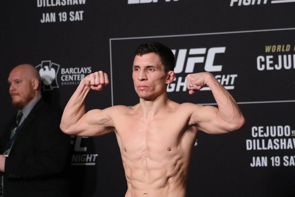 Joseph Benavidez weighs in ahead of UFC Brooklyn