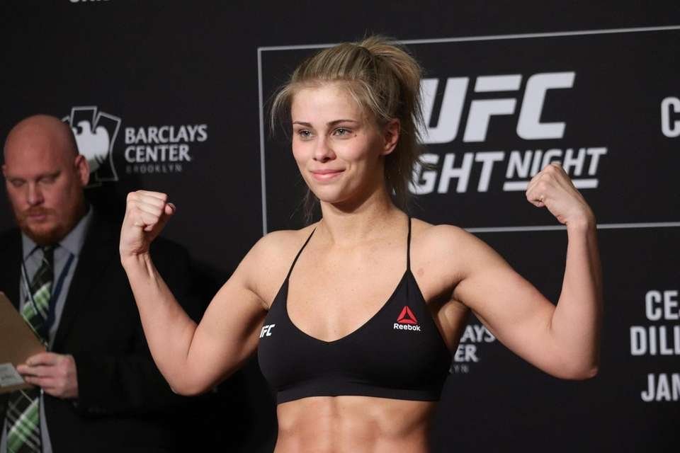 Paige VanZant weighs in ahead of UFC Brooklyn