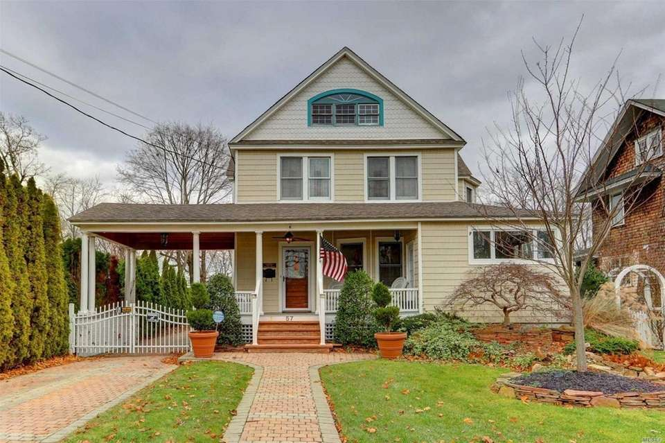 This Bay Shore Colonial includes four bedrooms and