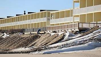 Sand continues to be trucked in on January