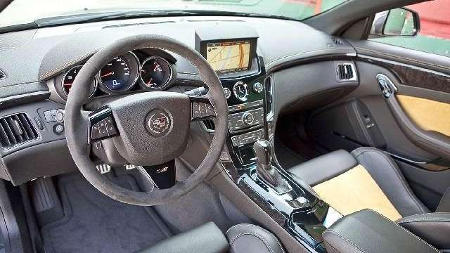 2011 Cadillac CTS Coupe interior.