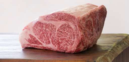 An A5 ribeye of Wagyu beef is extravagantly