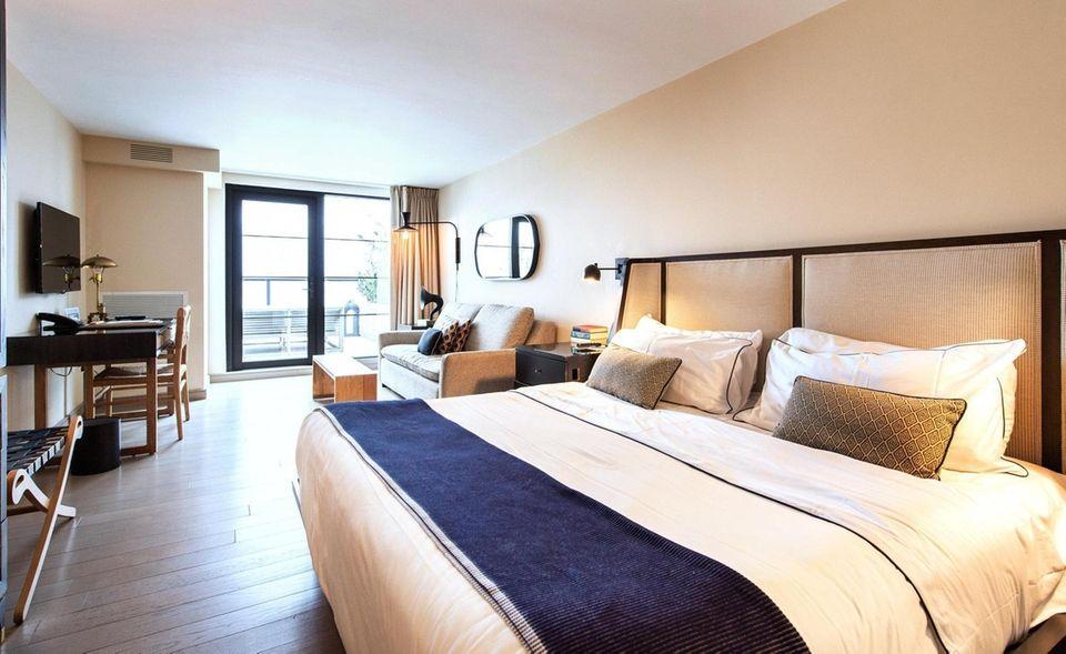 A guest room at Gurney's Montauk Resort &