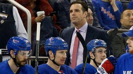 Rangers head coach David Quinn during the second