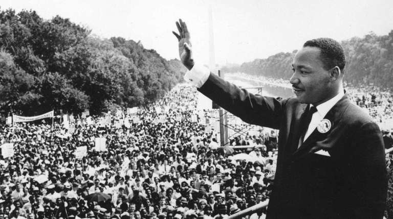 Civil rights leader Martin Luther King Jr. during