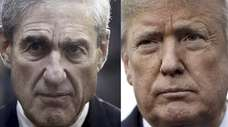 Special counsel Robert Mueller and President Donald Trump.