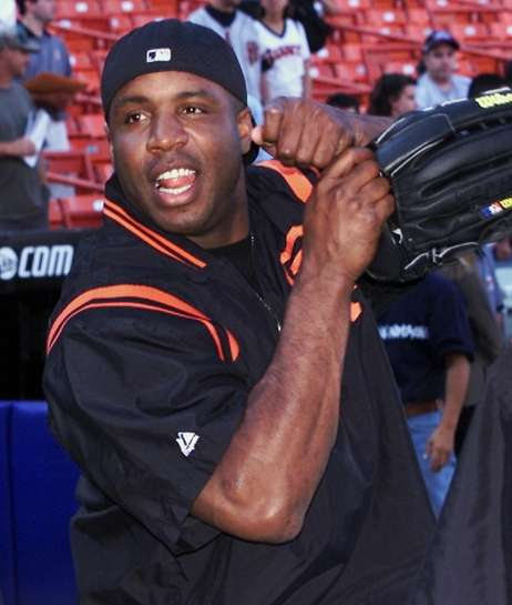 Giants slugger Barry Bonds at Shea Stadium on