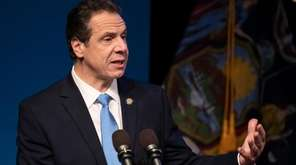 Gov. Andrew M. Cuomo during his state budget