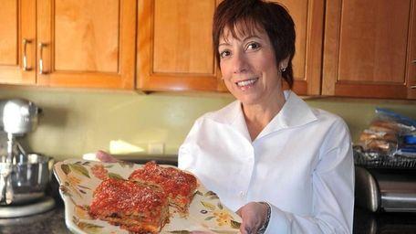 Barbara Blumenthal presents her signature dish, eggplant Parmesan.