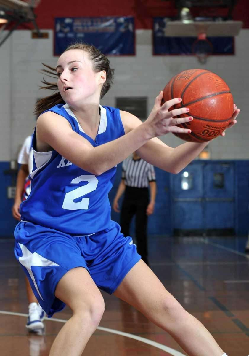 Kellenberg senior point guard Nicole Trepata (2) controls